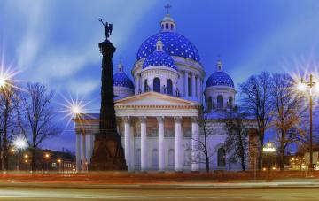 обоя троице-измайловский собор, города, санкт-петербург,  петергоф , россия, санкт-, петербург, троице-измайловский, собор