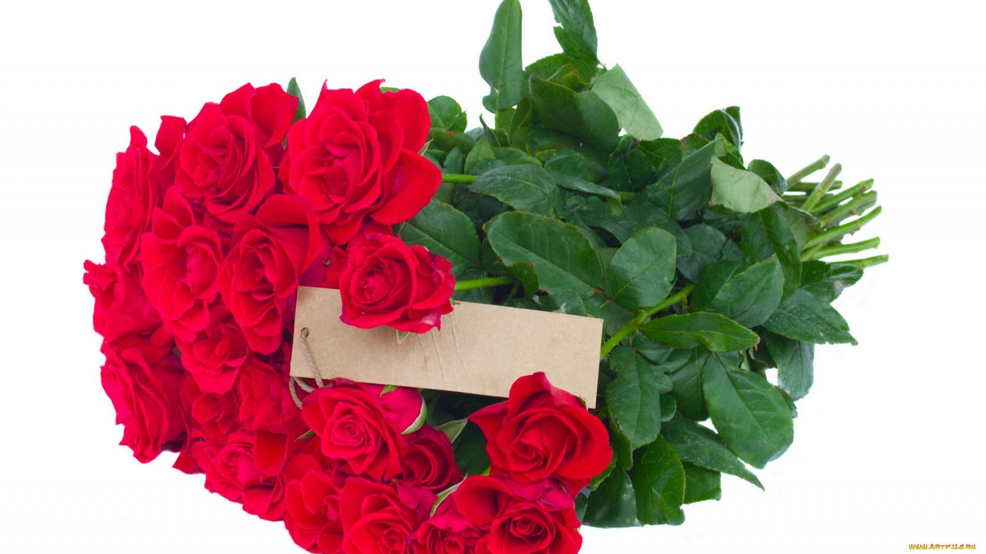 Открытка с розами букет 6