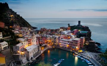 Картинка города амальфийское+и+лигурийское+побережье+ италия вид сверху панорама