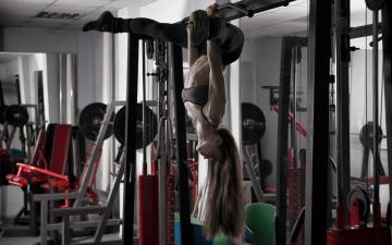 обоя спорт, фитнес, девушка