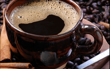Картинка еда кофе кофейные зёрна макро