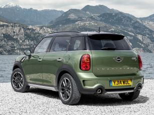 Картинка автомобили mini cooper зеленый sd countryman all4 r60 2014