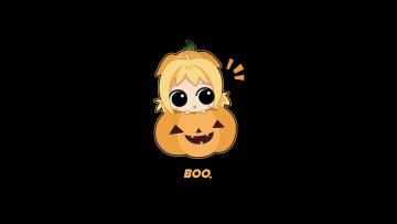 Картинка праздничные хэллоуин улыбка девочка тыква