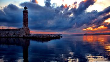 Картинка природа маяки маяк облака