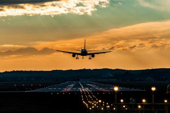 обоя авиация, авиационный пейзаж, креатив, самолет, полет