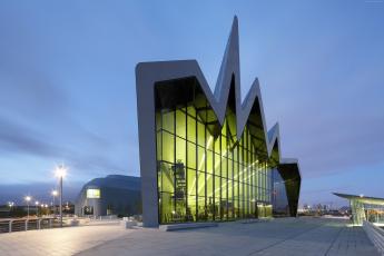 обоя города, - здания,  дома, музей, транспорта, глазго, шотландия