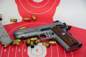 обоя ruger sr1911 commander, оружие, пистолеты, ствол