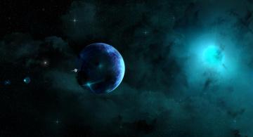 обоя космос, арт, вселенная, созвездия, звёзды, планеты