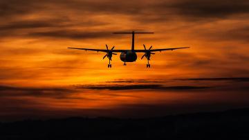 обоя авиация, авиационный пейзаж, креатив, полет, самолет