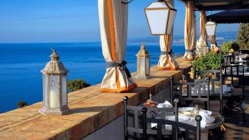 обоя интерьер, кафе,  рестораны,  отели, фонари, столики, терраса