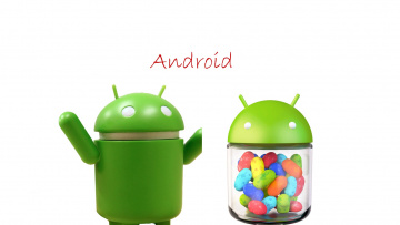 обоя компьютеры, android, фон, логотип