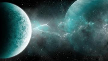обоя космос, арт, планеты, вселенная, созвездия, звёзды