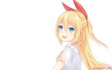 Картинка аниме nisekoi фон взгляд девушка