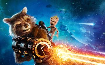 обоя кино фильмы, guardians of the galaxy vol,  2, guardians, of, the, galaxy, 2, rocket, baby, groot
