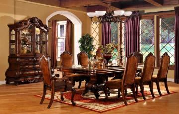 обоя интерьер, столовая, стулья, стол, буфет