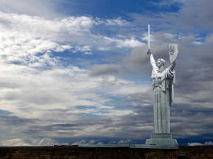 Картинка музей великой отечественной войны города киев украина небо статуя родина-мать