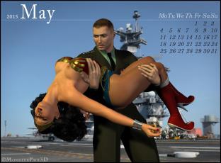обоя календари, 3д-графика, мужчина, взгляд, фон, девушка