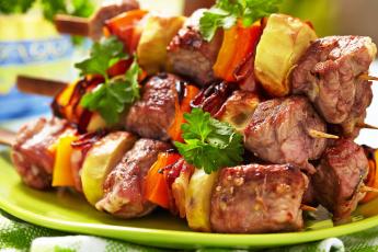 Картинка еда шашлык +барбекю шпажки овощи мясо vegetables meat