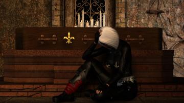 Картинка видео+игры dark+heresy девушка взгляд фон свечи задумчивость