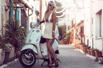 обоя мотоциклы, мото с девушкой, lea, benattia