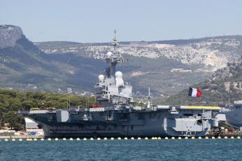 обоя корабли, авианосцы,  вертолётоносцы, авианосец, шарль, де, голь, вмс, франции