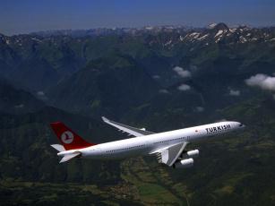 обоя пассажирский, самолёт, авиация, пассажирские, самолёты