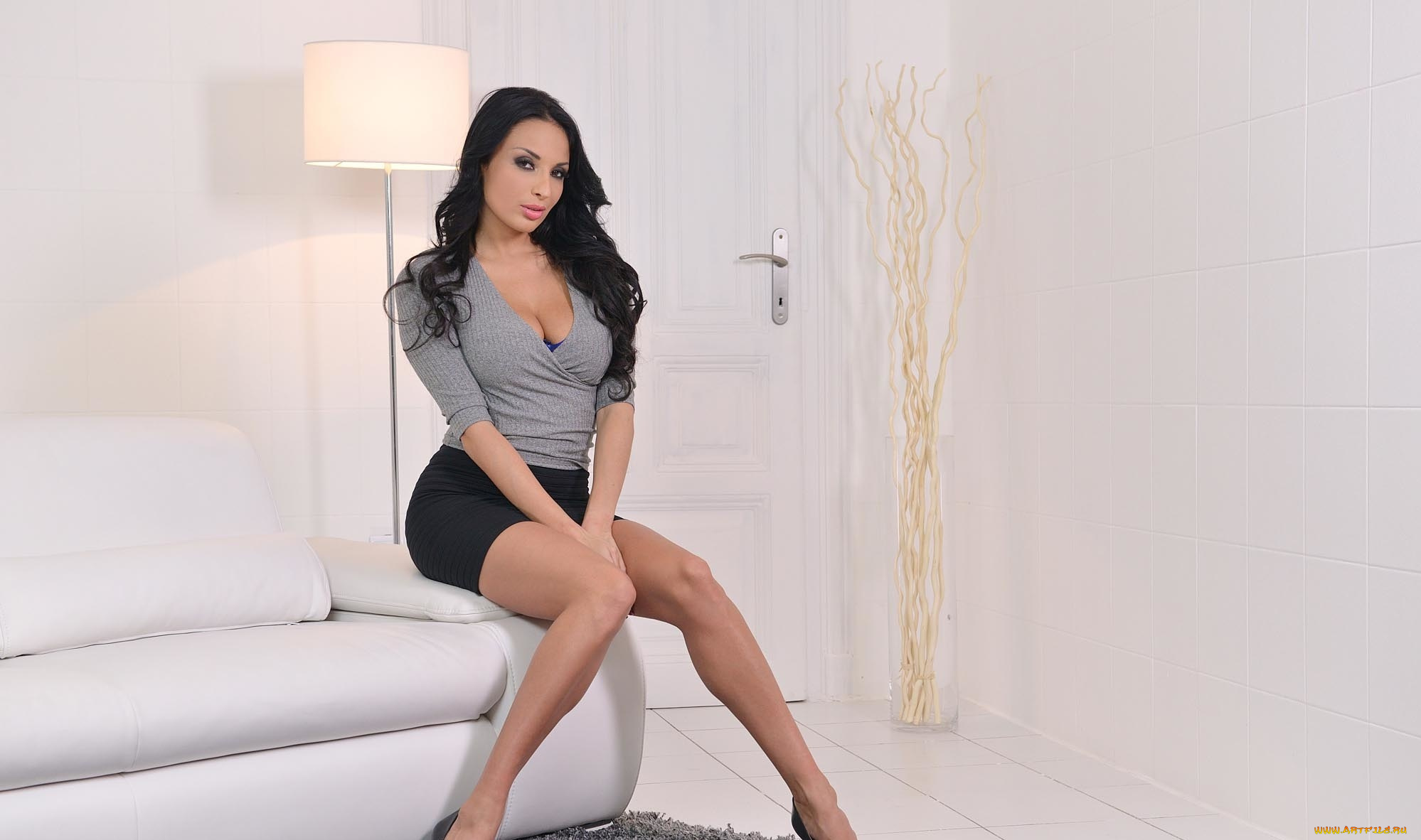 Dark haired beauty Anissa Kate and her male lover get into their hard fucking  1065427