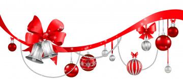 обоя праздничные, векторная графика , новый год, колокольчики, шары, фон