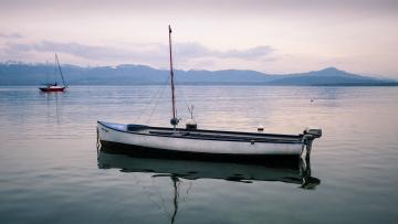 обоя корабли, лодки,  шлюпки, река, лодка