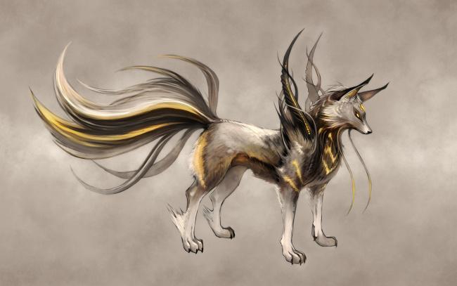 Обои картинки фото рисованное, животные,  сказочные,  мифические, зверь