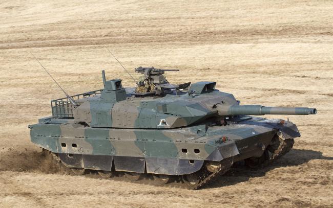 Обои картинки фото танки, техника, военная техника, type10, боевой, танк, Япония, основной