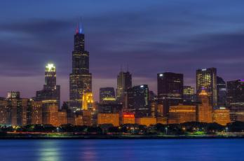 Картинка города Чикаго сша chicago штат иллинойс