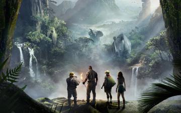 обоя кино фильмы, jumanji,  welcome to the jungle, welcome, to, the, jungle