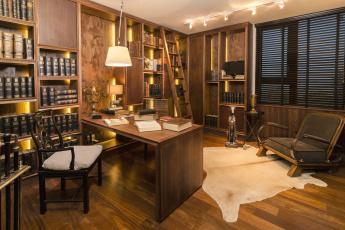 Картинка интерьер кабинет +библиотека +офис книги
