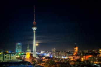 обоя berlin, города, берлин , германия, огни, ночь