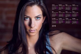 обоя календари, девушки, лицо