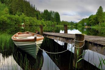 обоя корабли, лодки, шлюпки, река, лес