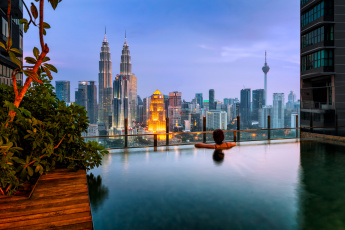 Картинка kuala+lumpur города куала-лумпур+ малайзия небоскребы панорама