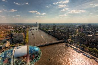обоя london, города, лондон , великобритания, панорама