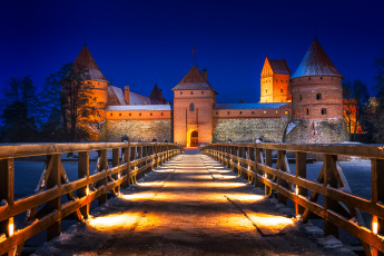 обоя trakai castle, города, - дворцы,  замки,  крепости, панорама