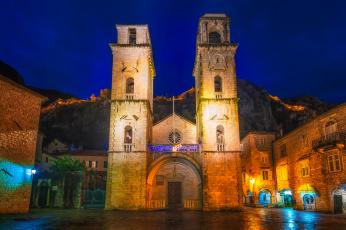обоя kotor cathedral of saint tryphon, города, - православные церкви,  монастыри, Черногория