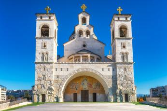 обоя podgorica cathedral exterior, города, - православные церкви,  монастыри, храм