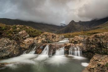 обоя природа, водопады, река, водопад, лес