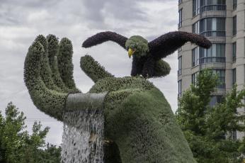 обоя разное, садовые и парковые скульптуры, озеленение, скульптура, клумба, красота, парк
