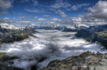обоя природа, горы, простор