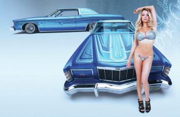 обоя автомобили, -авто с девушками, ford, lindsey pelas