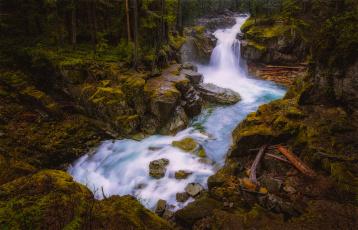 обоя природа, водопады, водопад, река, лес