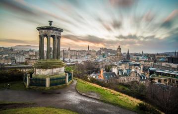 обоя edinburgh,  scotland, города, эдинбург , шотландия, панорама