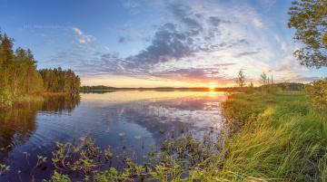 обоя природа, восходы, закаты, озеро, закат