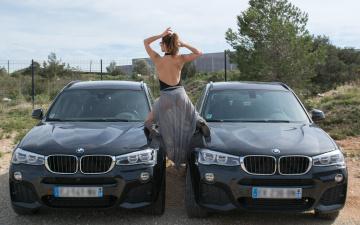 обоя автомобили, -авто с девушками, tiffany